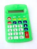 Calculadora verde Foto de archivo