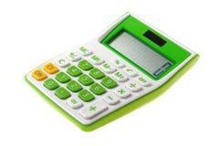 Calculadora verde Fotos de archivo