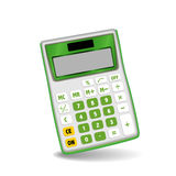 Calculadora verde Fotografía de archivo