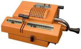 Calculadora vieja Imagen de archivo