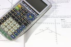 Calculadora y matemáticas Imagen de archivo libre de regalías