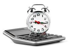 Calculadora y reloj de alarma Foto de archivo libre de regalías