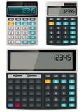 Calculadoras del vector - simples y científicas stock de ilustración