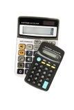Calculadoras eletrônicas Imagem de Stock Royalty Free