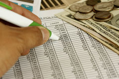 Calculando finanças Foto de Stock