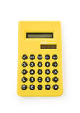 Calcularor. One yellow calculator on white background Stock Images
