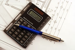 Calculate. To protect building cost calculate around costs. Check whether everything fits Royalty Free Stock Photo