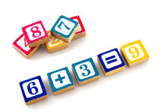 Calculate. Education in basic calculate the sum Royalty Free Stock Photos