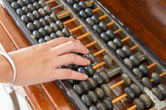Calculate with abacus Stock Image