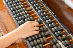 Calculate with abacus Stock Images