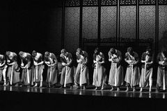 Calculate on an abacus-The second act of dance drama-Shawan events of the past. Guangdong Shawan Town is the hometown of ballet music, the past focuses on the Royalty Free Stock Photography