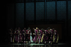Calculate on an abacus-The second act of dance drama-Shawan events of the past. Guangdong Shawan Town is the hometown of ballet music, the past focuses on the Stock Photo