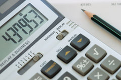 Calculate the bill Stock Image