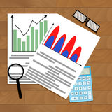 Calculate business growth forecast Stock Images