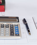 Calculate on calendar Royalty Free Stock Image