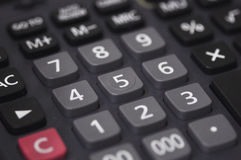 Calculate close up Stock Photography