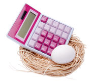 Calculate the Cost of Your Nest Egg Stock Photos