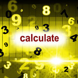 Calculate Counting Shows One Two Three And Calculation Royalty Free Stock Photography