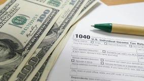 Calculate Dollar Bills to Fill 1040 Tax Form