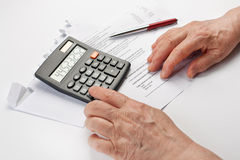 Calculate finances Royalty Free Stock Images