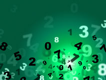 Calculate Green Represents High Tec And Count. Numbers Green Indicating High Tec And Computing Royalty Free Stock Photography