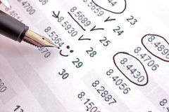 Calculate income Stock Photo