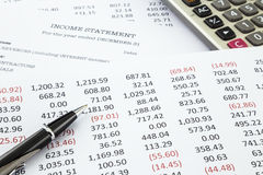 Calculate income statement Royalty Free Stock Photography