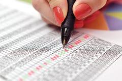 Calculate income Stock Photo