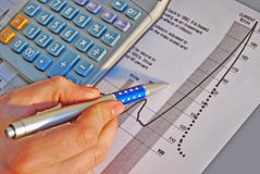 Calculate investing growh Stock Photography