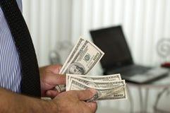 Calculate money ! Royalty Free Stock Photos