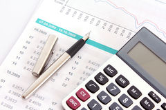 Calculate money royalty free stock photography