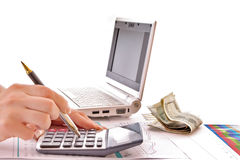Calculate money royalty free stock images