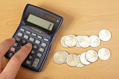 Calculate money. Stock Photography