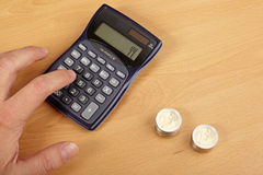 Calculate money. Royalty Free Stock Image