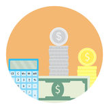 Calculate money icon Royalty Free Stock Images