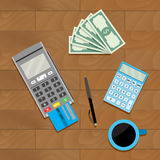 Calculate and pay Stock Photo