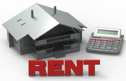Calculate Rent concept / House loan Stock Photo