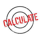 Calculate rubber stamp Stock Photos
