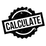 Calculate rubber stamp Stock Image