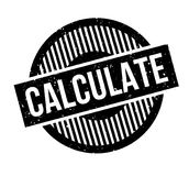 Calculate rubber stamp Stock Photo