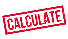 Calculate rubber stamp Royalty Free Stock Image