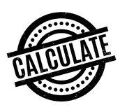 Calculate rubber stamp Royalty Free Stock Photo