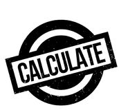 Calculate rubber stamp Royalty Free Stock Images