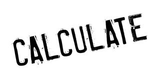 Calculate rubber stamp Stock Photography