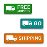 Calculate shipping buttons royalty free illustration