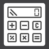 Calculate solid icon, business and calculator Royalty Free Stock Images