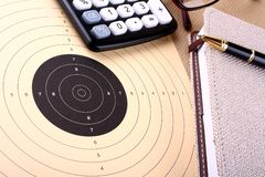 Calculate target and reach Stock Photography