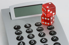Calculate Winnings. Calculated risks Stock Photos