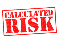 CALCULATED RISK. Red Rubber Stamp over a white background Stock Photos