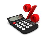 Calculater persentage Royalty Free Stock Photo
